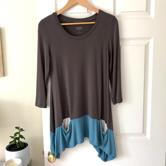 LOGO by Lori Goldstein Tunic with Drop Pockets